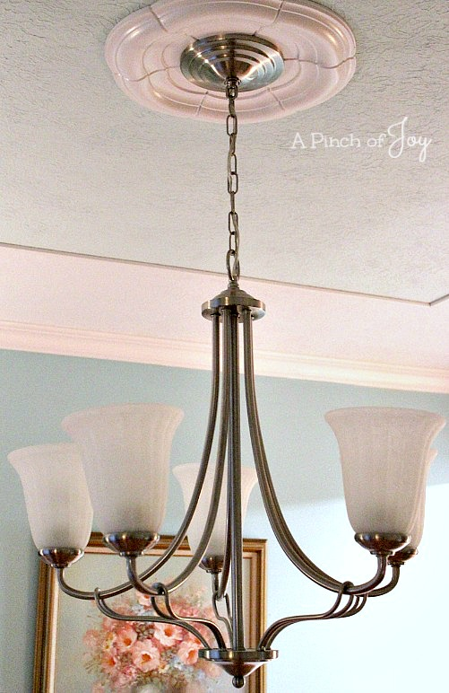 Dining Room Makeover: The Reveal, Chandelier --- A Pinch of Joy