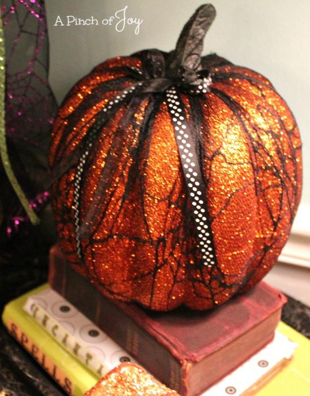 Pumpkin and books An elegant Halloween A Pinch of Joy