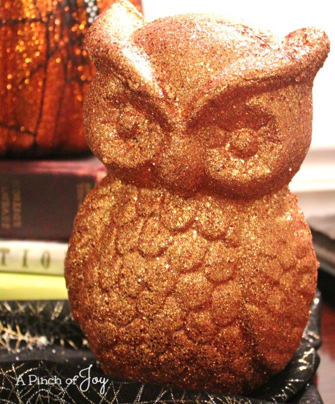 Glittered Owl A Pinch of Joy