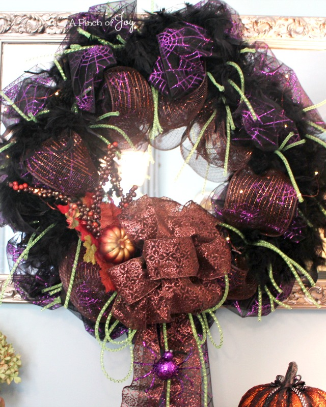 Halloween Wreath A Pinch of Joy