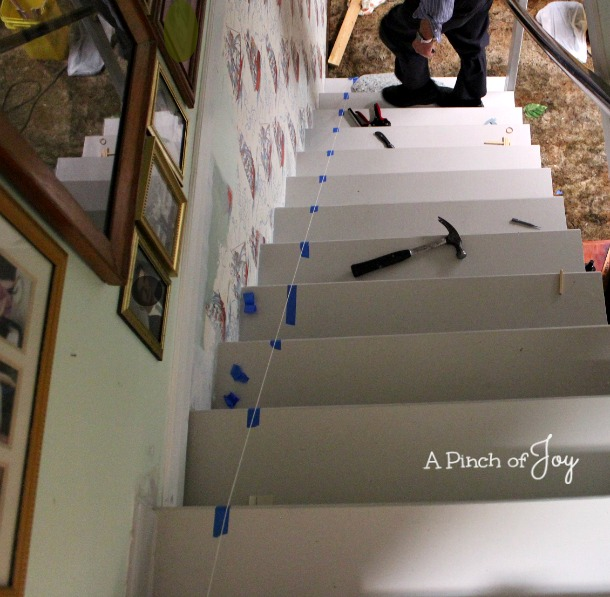 How to Install a Stair Runner from A Pinch of Joy