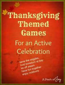 Thanksgiving Themed Games - A Pinch of Joy