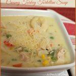 Creamy Turkey Tortellini Soup -- A Pinch of Joy