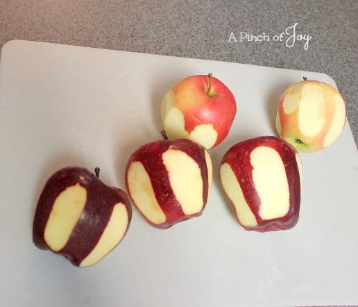 Step 4 Peeled apples