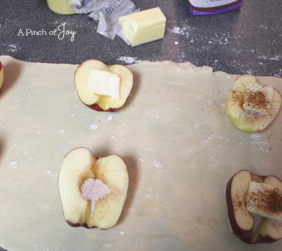 Step 6 Half apples