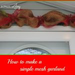 How to Make a Simple Mesh Garland -- A Pinch of Joy