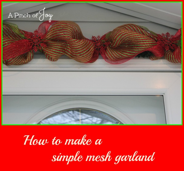 1how to make a simple mesh garland - How To Decorate A Staircase For Christmas With Deco Mesh