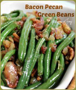 Bacon Pecan Green Beans -- A Pinch of Joy
