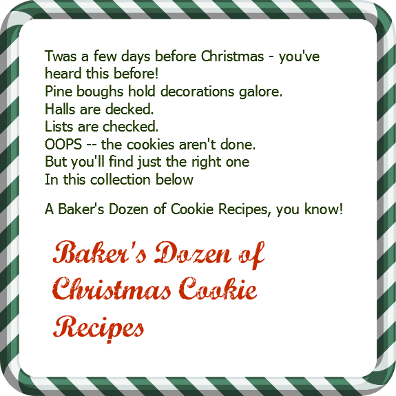 A Baker's Dozen of Christmas Cookie Recipes (and 1 really bad poem) from A Pinch of Joy
