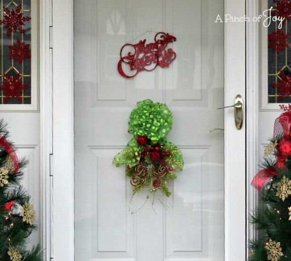 Door Swag On the Door -- A Pinch of Joy