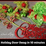 Door Swag in 10 Minutes -- A Pinch of Joy