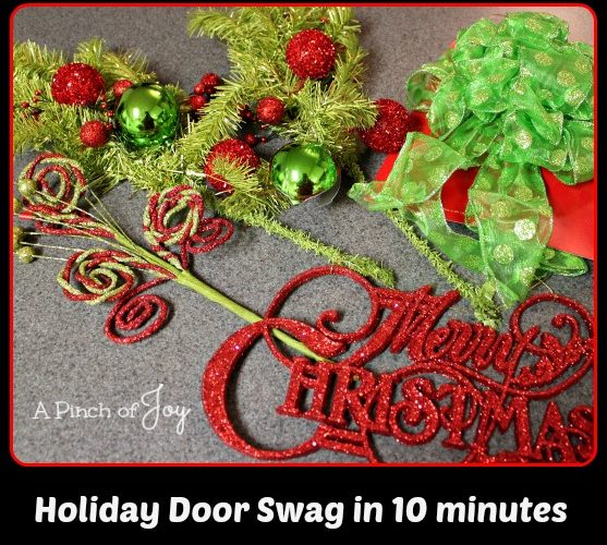 Holiday Door Swag in 10 minutes