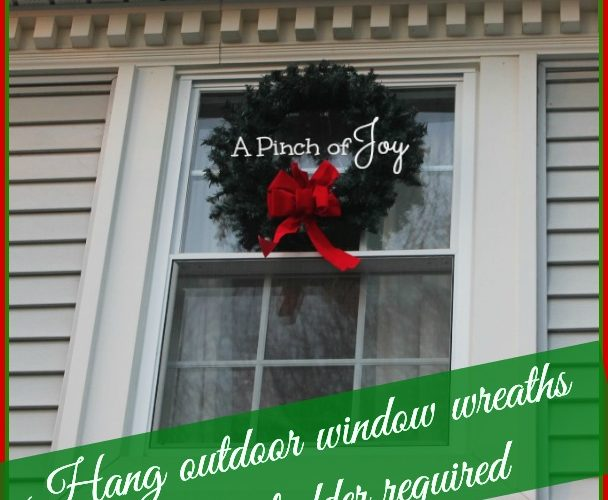 Hang A Wreath – No ladder required