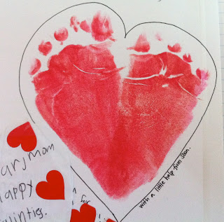 Footprint Hearts