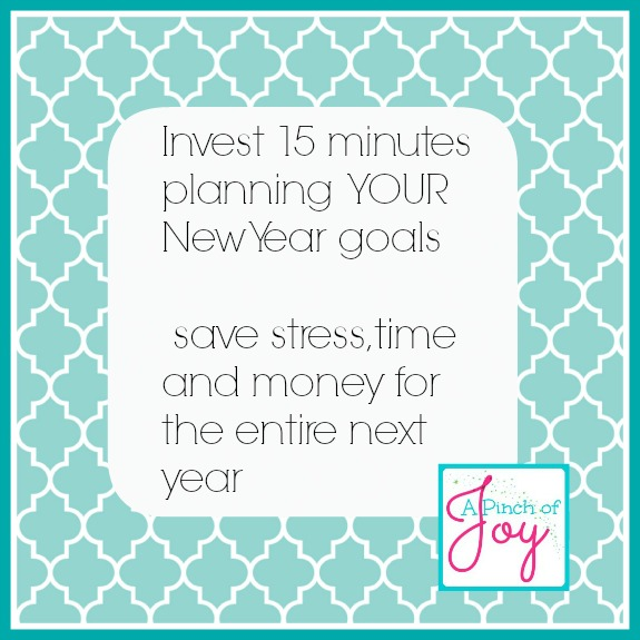 New Years Goals -- A Pinch of Joy
