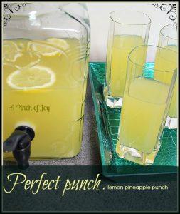 Perfect Lemon Pineapple Punch--A Pinch of Joy