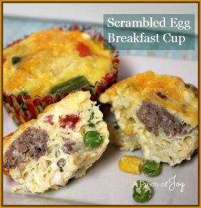 Scrambled Egg Breakfast Cup --A Pinch of Joy