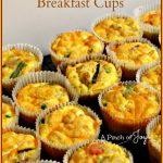 Scrambled Egg Breakfast Cups -- A Pinch of Joy