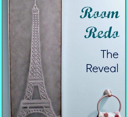 Powder Room Redo:  Reveal