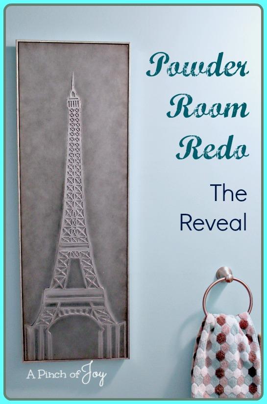 Powder Room Redo - The Reveal -- A Pinch of Joy