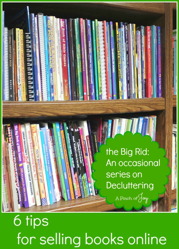 6 tips for sellling books online -- A Pinch of Joy