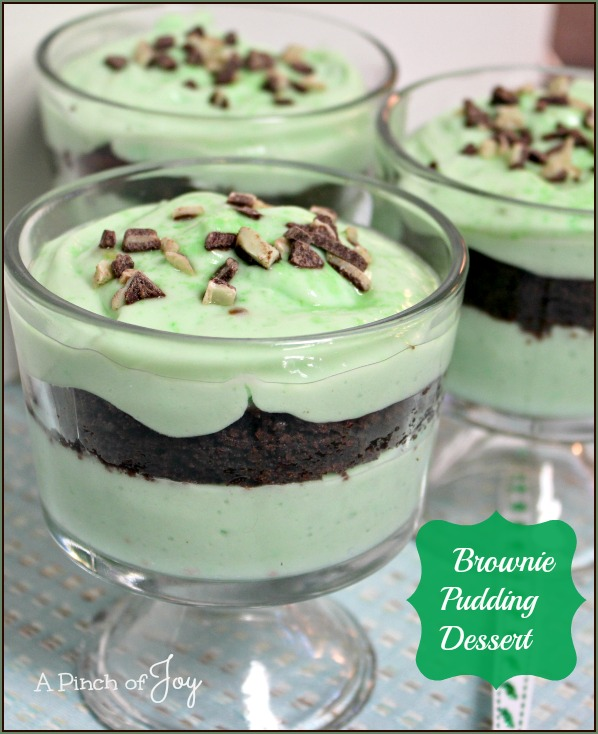 Brownie Pudding Dessert -- A Pinch of Joy