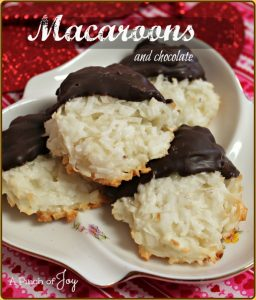 Macaroons and Chocolate -- A Pinch of Joy