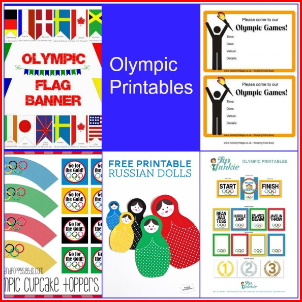 Olympic Printables -- A Roundup from A Pinch of Joy