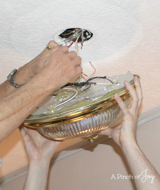 Remove Old Light Fixture -- A Pinch of Joy