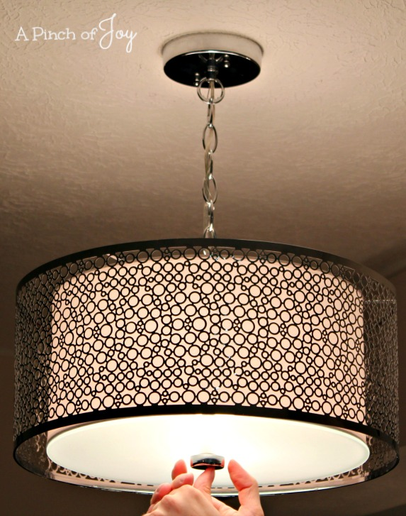 Light Fixture Finished Install -- A Pinch of Joy