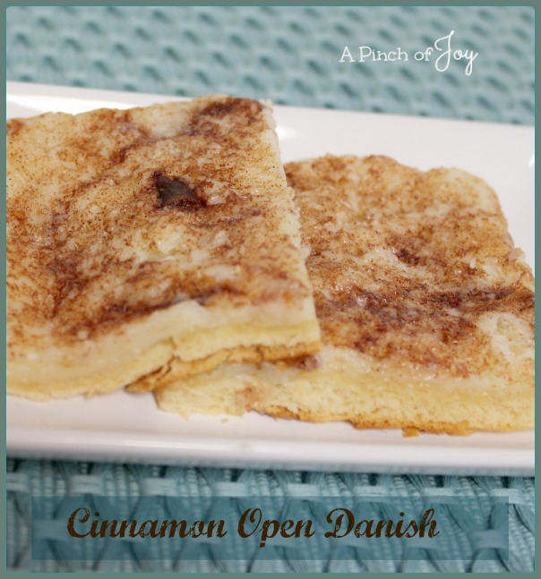 Cinnamon Cream Cheese Open Danish -- A Pinch of Joy
