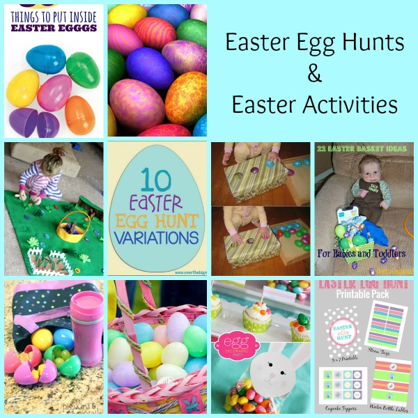 Easter Egg Hunts and Activities -- A Pinch of Joy Round up