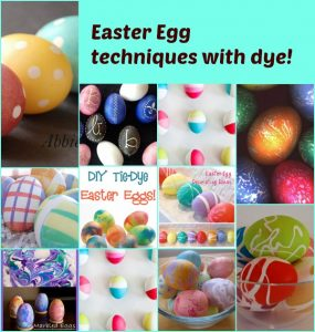 Easter Egg Techniques with Dye -- A Pinch of Joy