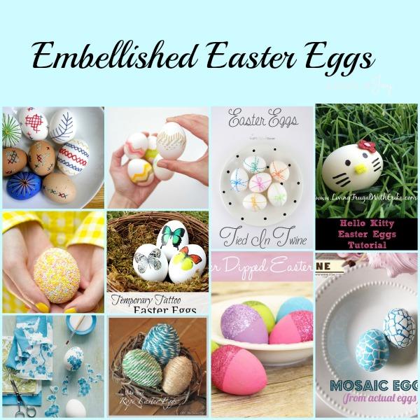 Embelllished Easter Eggs -- A Pinch of Joy
