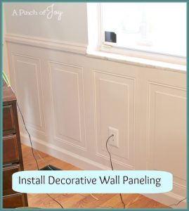 Install Decorative Wall Paneling -- A Pinch of Joy