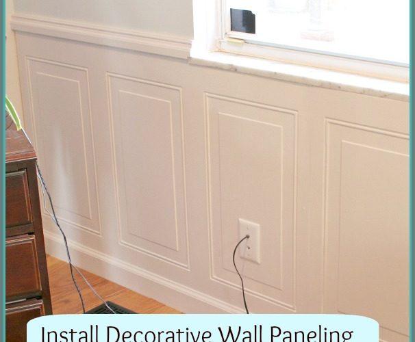 Install Decorative Wall Panel