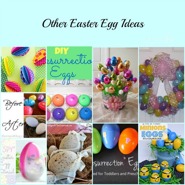 Other Easter Egg Ideas -- A Pinch of Joy roundup