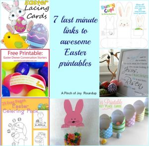 7 links to awesome Easter Printables -- A Pinch of Joy