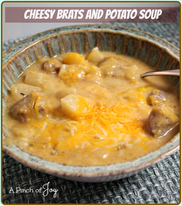 Slowcooker Cheesy Brats And Potato Soup