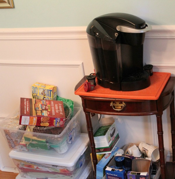 Coffee and Snack Station