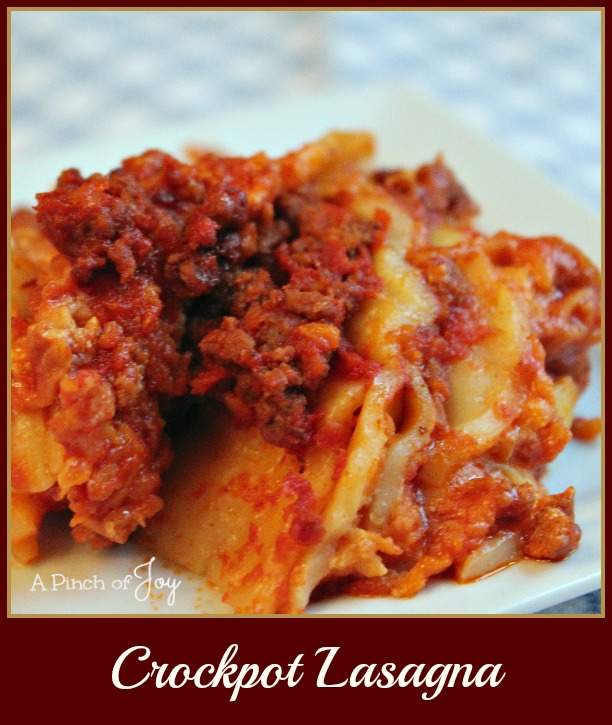 Crockpot Lasagna -- A Pinch of Joy