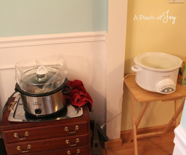 Kitchen in Transition: Crockpot Central -- A Pinch of Joy