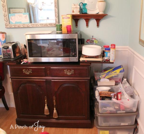 Microwave Center -- Temporary Kitchen