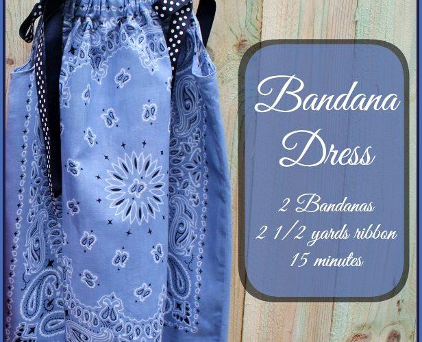 How to make a bandana dress — tutorial