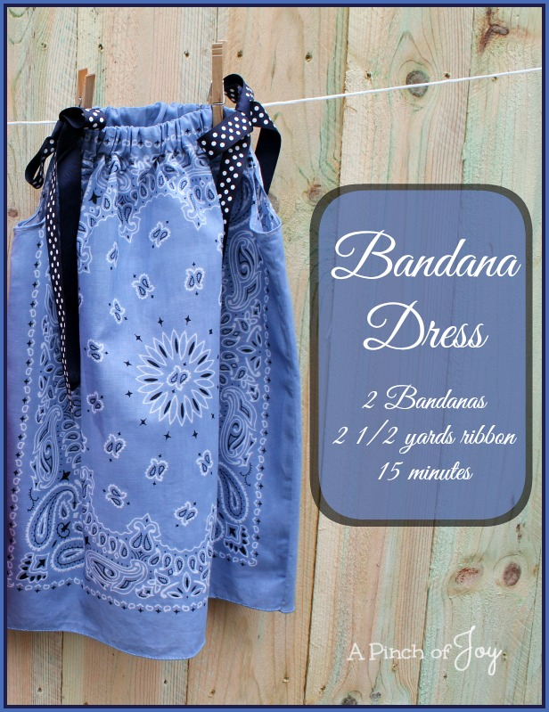 How Make a Bandana Dress -- A Pinch of Joy