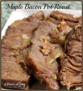 Maple Bacon Pot Roast in the slowcooker -- A Pinch of Joy