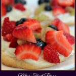 Mini Fruit Pizza - A Pinch of Joy