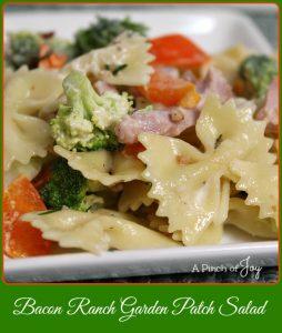 Bacon Ranch Garden Patch Salad -- A Pinch of Joy