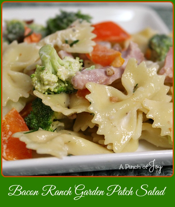 Bacon Ranch Garden Patch Salad -- A Pinch of Joy