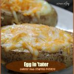 Egg in 'tater: Cheesy Egg Stuffed Potato -- A Pinch of Joy